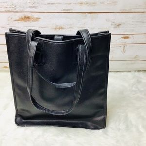 DKNY Black Minimalist Leather Tote